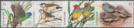 AUS SG4872-5 Finches of Australia (Part 1) set of 4